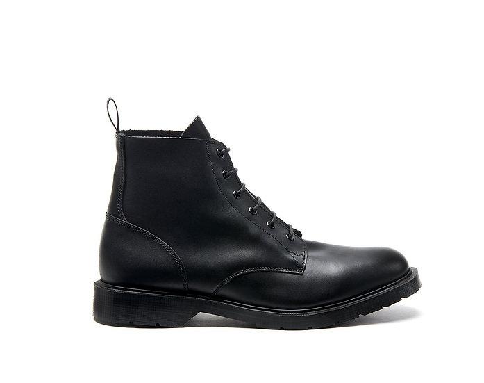 Solovair Black 6eye Derby boot