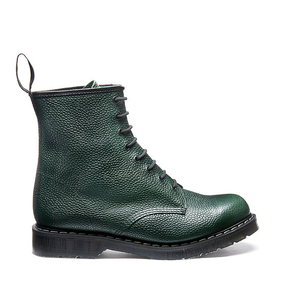 Solovair 8eye Derby boot Green scotch grain