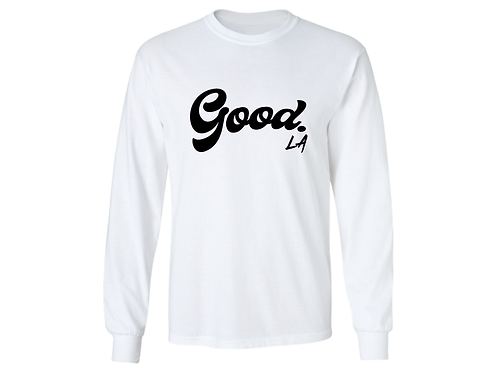 White Long Sleeve Tee by GoodLA
