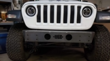 JK/JL Front Bumper Raw (Smooth and Sexy - No winch)
