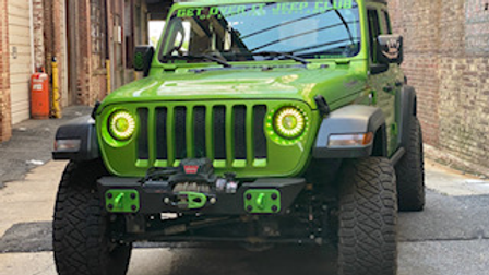 JK/JL Stubby Front Bumper Powder Coated(Winch)