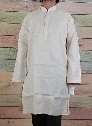 Beige cotton silk kurta (3XL)