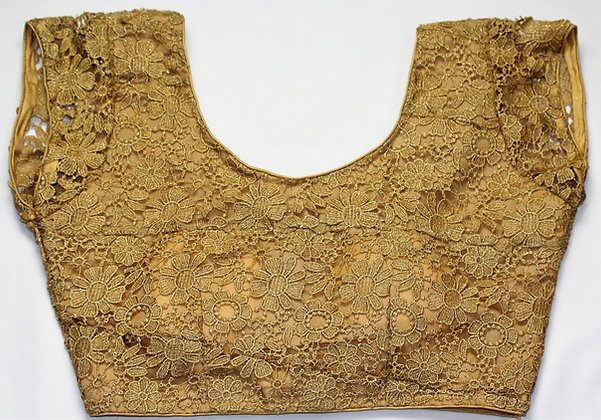 GOLDEN BLOUSE W/ SEQUIN WORK ALLOVER (36'')