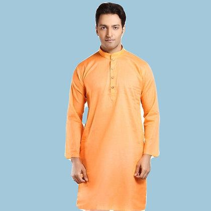 Orange Color Cotton Kurta (L)