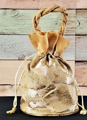 Golden Embroidered Potli Bag