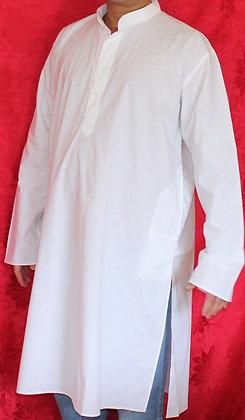 White Pure Cotton Kurta for Men
