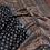 Thumbnail: Ajrakh Black chanderi handloom saree