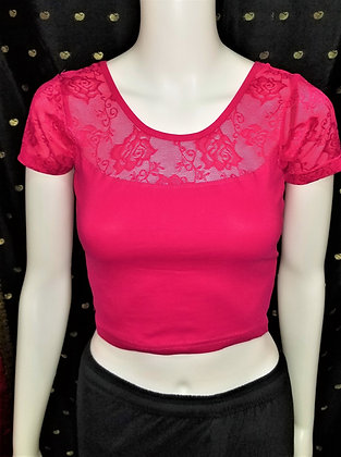 Magenta Stretchable Blouse - Style13