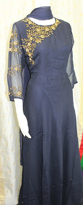 Blue Indo-Western Gown