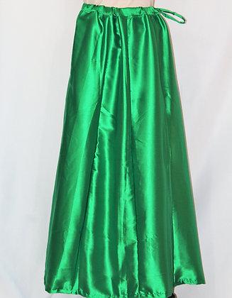 Green Satin Petticoat Under Skirt