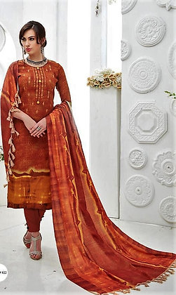 Pashmina inspired embroidered Suit