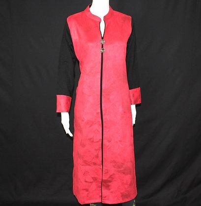 Red printed Designer Woolen Kurti (L)