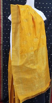 Mango Yellow silk Dupatta