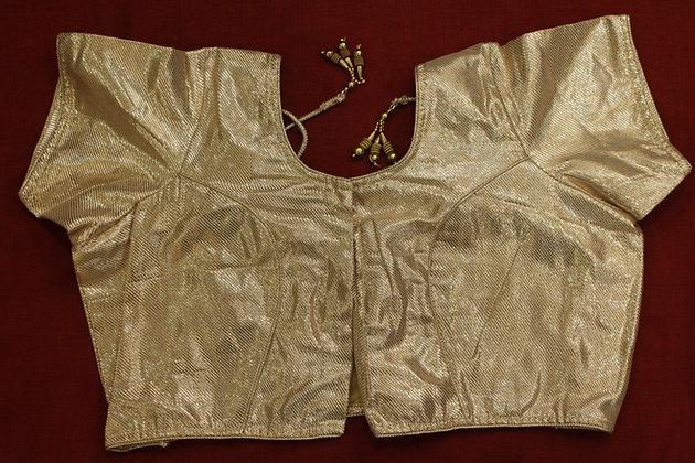 Plain Golden Silk Blouse