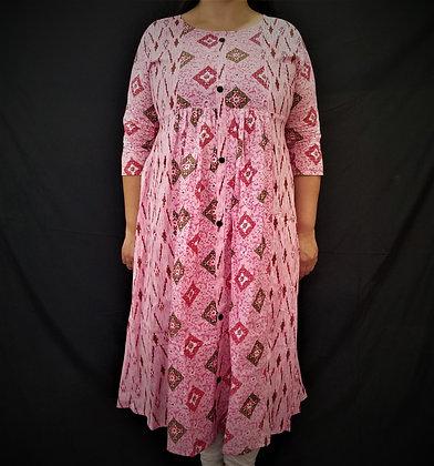 Peach Pink printed kurti