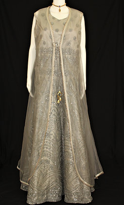 Indo-western Gown w/ Jacket shaped cover