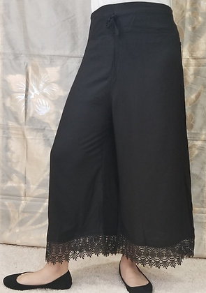 Black Soft Rayon Cotton Plazzo