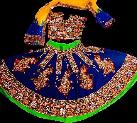 Blue Navratri Dance Lehnga