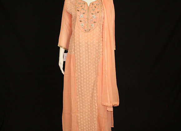Peach ready wear suit