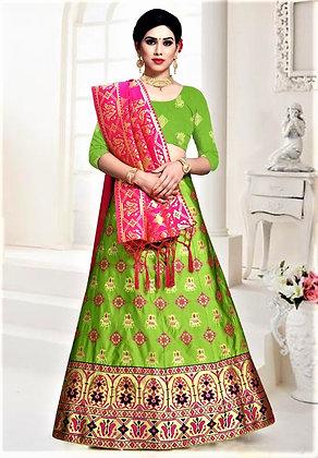 Banarasi Green Lehnga