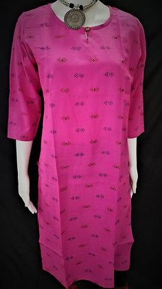 Small print pink Cotton Kurti