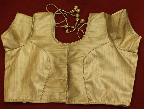 Plain Golden Silk Blouse