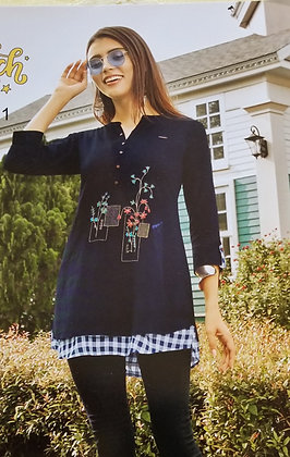 Blue Soft Cotton Kurti ( S )