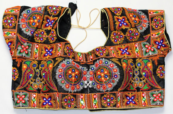 MULTI-COLOR FULLY EMBROIDERED STITCHED BLOUSE (38'')