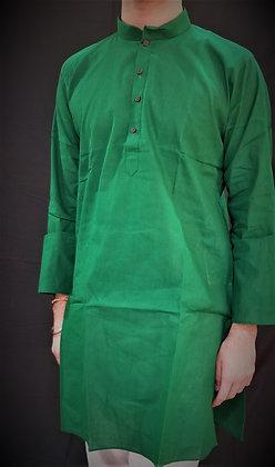 Green Cotton Kurta