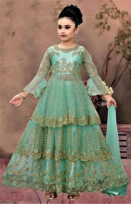 Green Silk Choli Lehnga