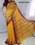 Yellow Handloom Saree