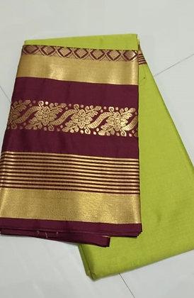 Mehndi Cotton Silk Saree