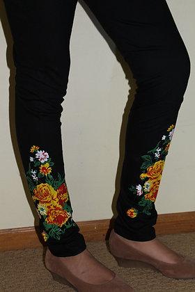 Black Churidar Lycra soft Leggings(M/L)
