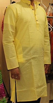 Lemon Yellow soft cotton  Kurta
