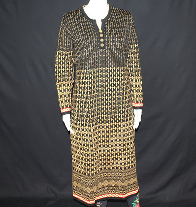 Brown and Black Woolen Kurti ( XL )