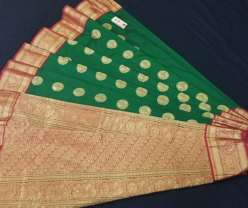Green Kanjivaram Pattu Soft Silk Saree