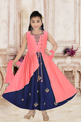 Blue and Pink Child Dress