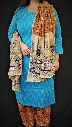 Blue Soft cotton Salwar Kameez