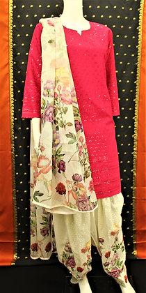Beautiful Pink Patiala Salwar Kameez