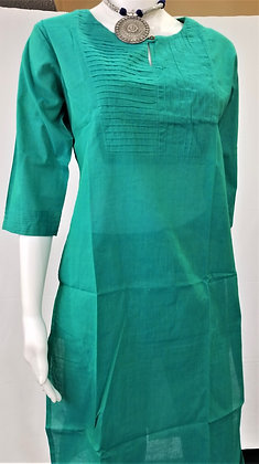 Green Cotton Rayon Kurti