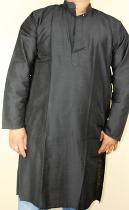 READYMADE PLAIN BLACK KURTA FOR MEN (L 42'')