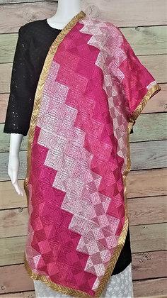 Pink Phulkari Dupatta