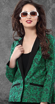 Reversible Cotton Jacket in Black & Green