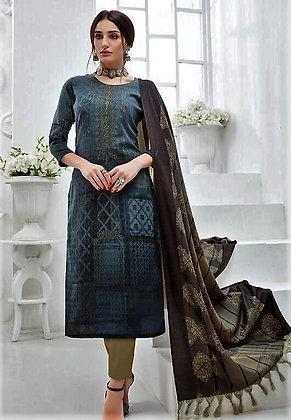 Pashmina inspired printed Suit