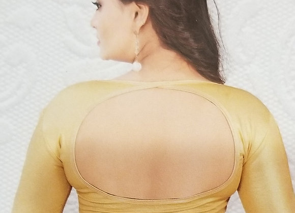 Gold Yellow Stretchable Blouse - Style1