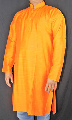 PLAIN FESTIVE BRIGHT ORANGE KURTA FOR MEN (L 40'')