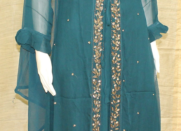 A-Line Ready to wear Teal Suit
