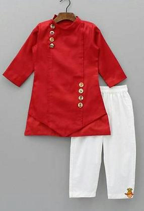 Red color Boy dress Set