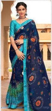 Beautiful Georgette Sari