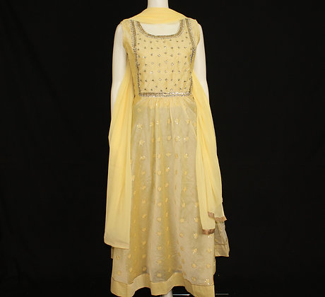 Yellow Off-White ready to wear party suit